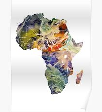 Map Africa 6 Poster