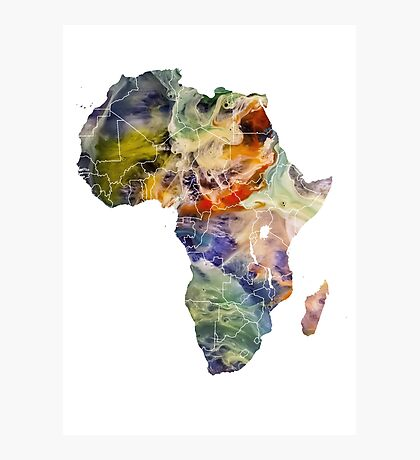 Map Africa 6 Photographic Print