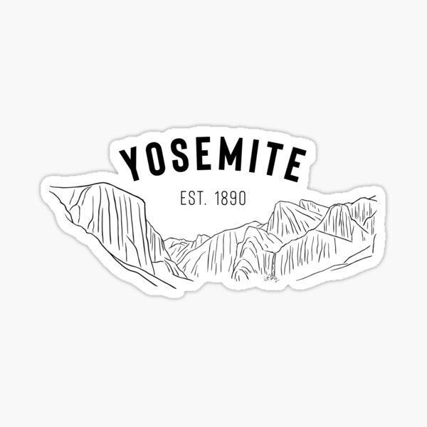 "Yosemite National Park ""Tunnel View"" Sticker"