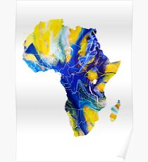 Africa map 6 Poster