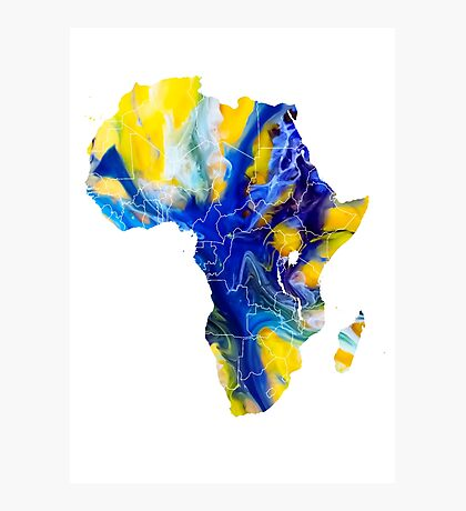 Africa map 6 Photographic Print
