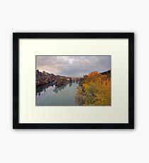 River Rhone and Arve Framed Print