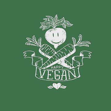 Happy Vegan Veggie Healthy Vegetarian Organic Raw food Garden by MDAM