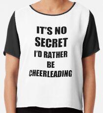 Cheerleading Sport Fan Lover Funny Gift Idea Chiffon Top