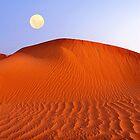 0942 Mond bei Sonnenaufgang von Hans Kawitzki