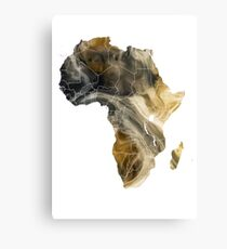 Africa map 8 Canvas Print