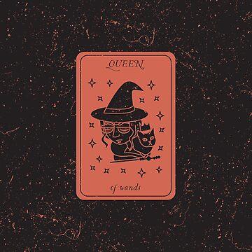Tarot Card - Queen of Wands by SydneyKoffler