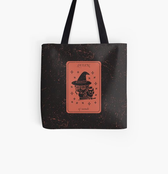 Tarot Card - Queen of Wands All Over Print Tote Bag