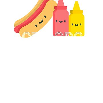 Hot Dog Ketchup Mustard Weiner Frankfurter Junk Food by Essetino
