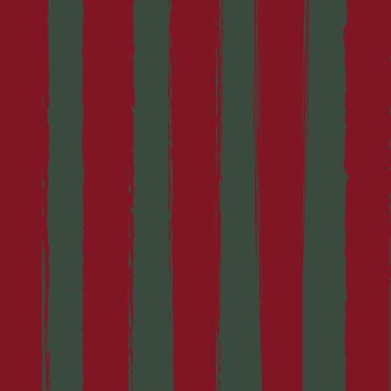 Red Brushed Stripes-A Hint of Christmas by broadmeadow