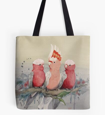 Wednesday Galahs Tote Bag