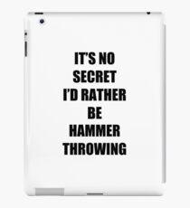 Hammer Throwing Sport Fan Lover Funny Gift Idea iPad Case/Skin