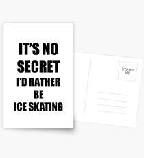 Ice Skating Sport Fan Lover Funny Gift Idea Postkarten