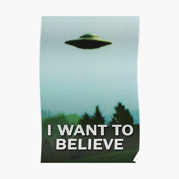 The X-Files I WANT TO BELIEVE original poster Poster