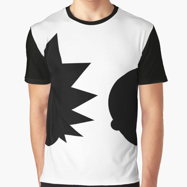 Rick and Morty - Simple Design! - Black Graphic T-Shirt