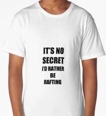 Rafting Sport Fan Lover Funny Gift Idea Long T-Shirt