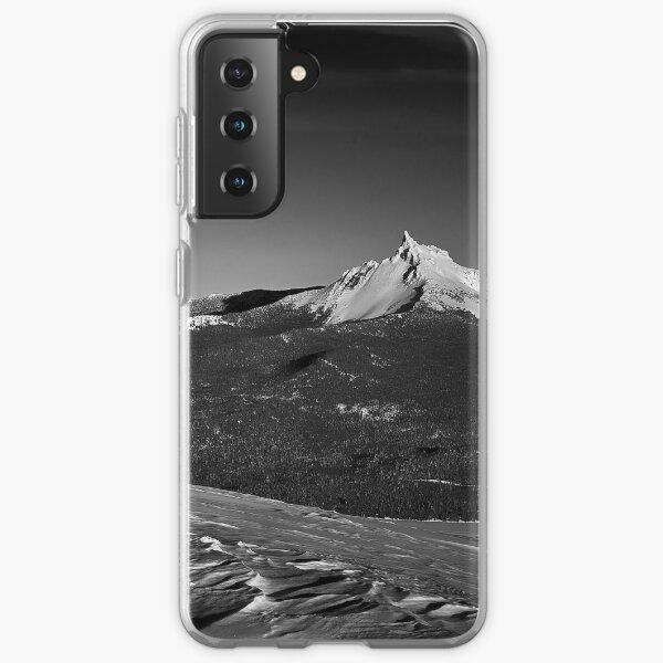 Mt. Thielsen, Oregon Cascades Landscape in Black and White Samsung Galaxy Soft Case