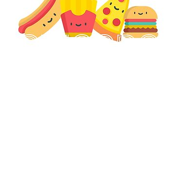 Hot Dog Pizza Hamburger Fries Junk Food Fast Food by Essetino