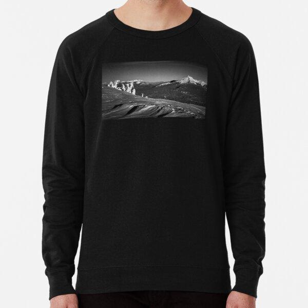 Mt. Thielsen, Oregon Cascades Landscape in Black and White Lightweight Sweatshirt
