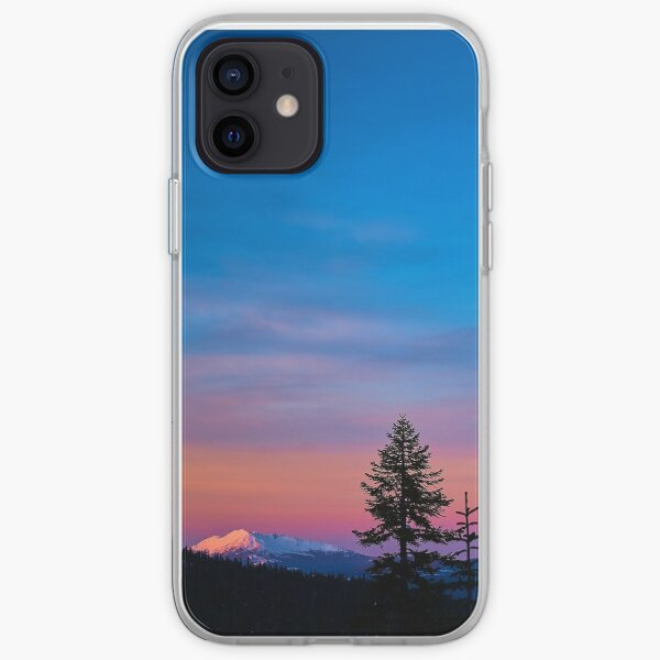 Diamond Peak, Oregon Winter Sunset iPhone Soft Case