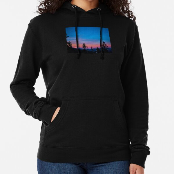 Diamond Peak, Oregon Winter Sunset Lightweight Hoodie
