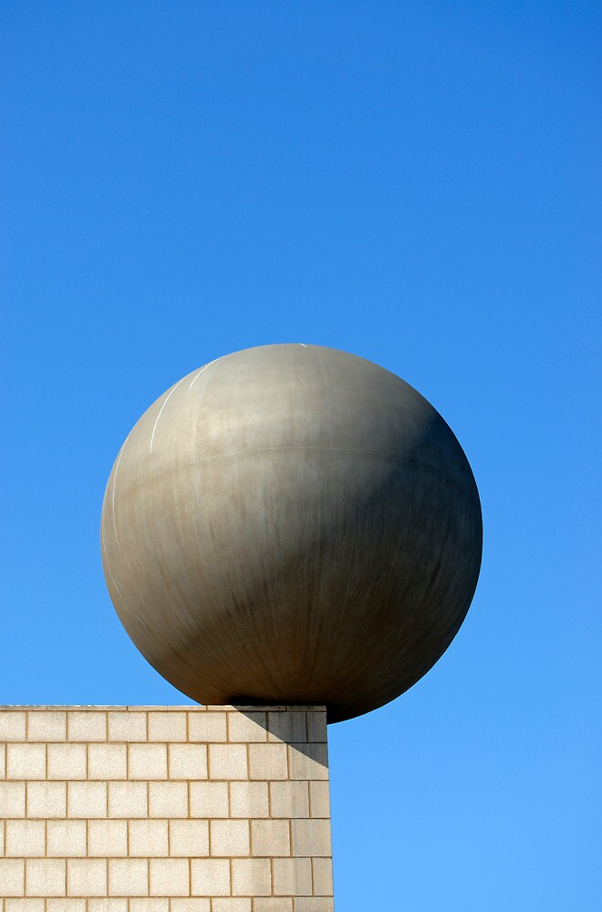Gehry's Sphere (Esfera) Sculpture, Barcelona (Spain)  by Petr Svarc