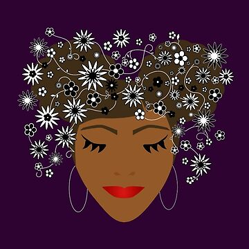 African American Flower Goddess by umeimages