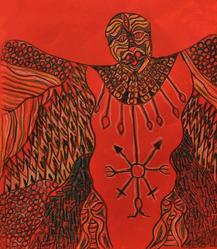 Shaman on red by LordMasque