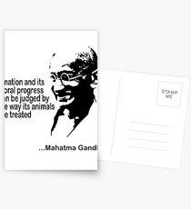 Gandhi Animal Rights Postcards