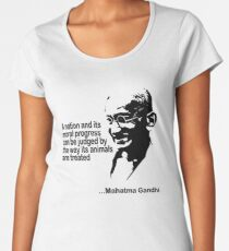 Gandhi Animal Rights Women's Premium T-Shirt