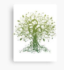 Meditate, Meditation, Spiritual Tree Yoga Canvas Print