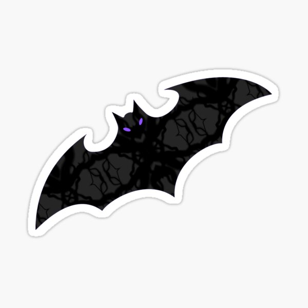 Bat Love On Purple  Sticker