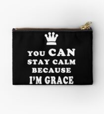 YOU CAN STAY CALM BECAUSE I'M GRACE ASEXUAL T-SHIRT Studio Pouch
