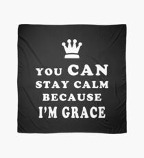 YOU CAN STAY CALM BECAUSE I'M GRACE ASEXUAL T-SHIRT Scarf