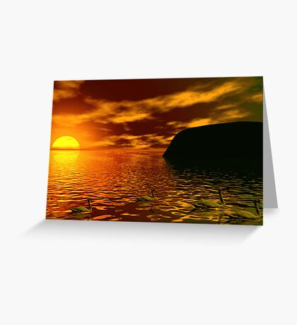 Beautiful Sunset.... Greeting Card