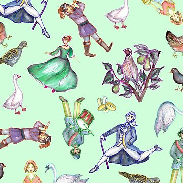 On the Twelfth Day of Christmas Pattern Green by ECMazur