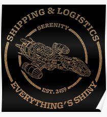 Serenity Shipping & Logistics Poster