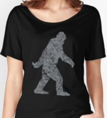 Gone Squatchin in Grunge Distressed Style Women's Relaxed Fit T-Shirt