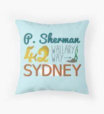 P. Sherman 42 Wallaby Way Sydney Throw Pillow