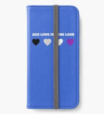 ASEXUAL HEARTS ACE LOVE IS TRUE LOVE ASEXUAL T-SHIRT iPhone Wallet/Case/Skin