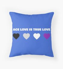 ASEXUAL HEARTS ACE LOVE IS TRUE LOVE ASEXUAL T-SHIRT Throw Pillow