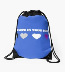 ASEXUAL HEARTS ACE LOVE IS TRUE LOVE ASEXUAL T-SHIRT Drawstring Bag