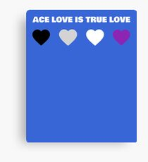 ASEXUAL HEARTS ACE LOVE IS TRUE LOVE ASEXUAL T-SHIRT Canvas Print