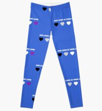 ASEXUAL HEARTS ACE LOVE IS TRUE LOVE ASEXUAL T-SHIRT Leggings
