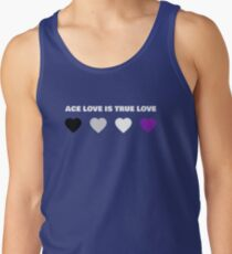 ASEXUAL HEARTS ACE LOVE IS TRUE LOVE ASEXUAL T-SHIRT Men's Tank Top