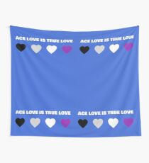 ASEXUAL HEARTS ACE LOVE IS TRUE LOVE ASEXUAL T-SHIRT Wall Tapestry