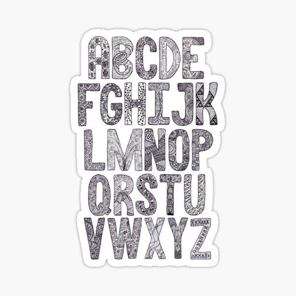 The SciArt Alphabet Sticker