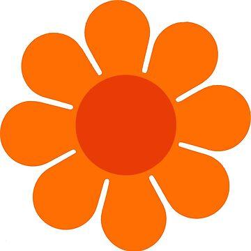 Naranja sobre naranja Flor Hippie Margarita de hilda74