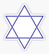 Star of David - blue and fine Sticker