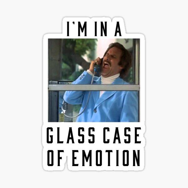 I'm in a glass case of emotion Sticker